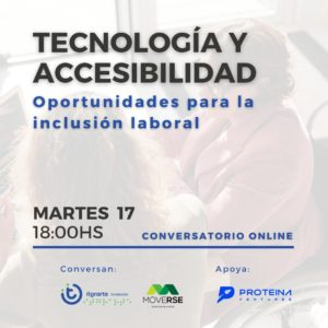"""Charla """"Tecnología y accesibilidad. Nuevas oportunidades para la inclusión laboral"""""""